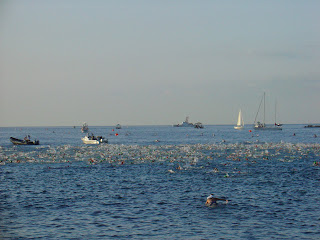 Ocean swimming at Hawaii Ironman