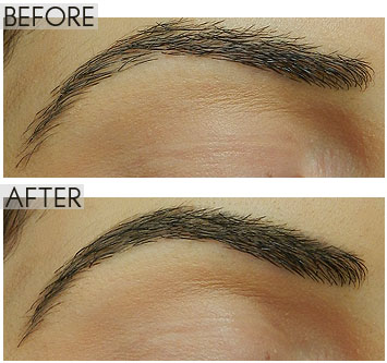 milani brow tint pen before after
