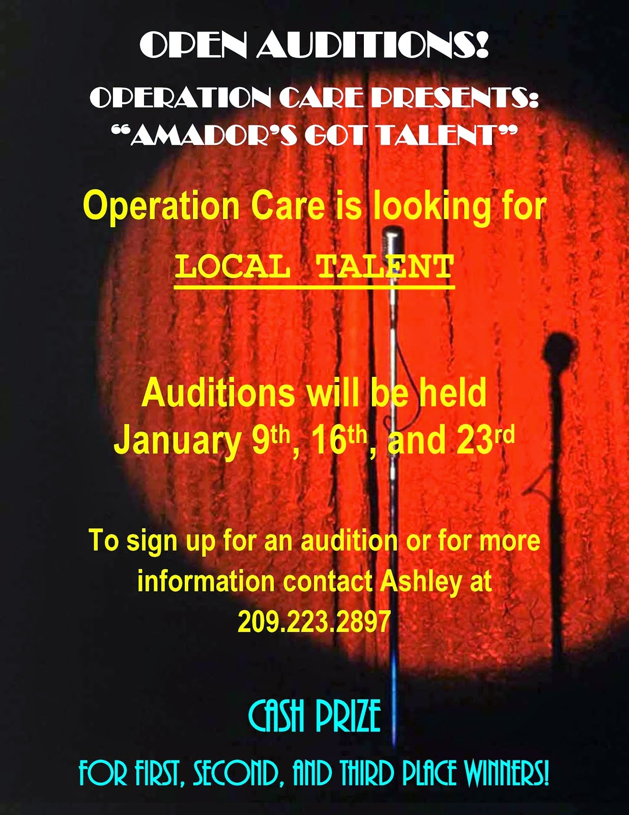 """Auditions for """"Amador's Got Talent"""" - Jan 9, 16 and 23"""