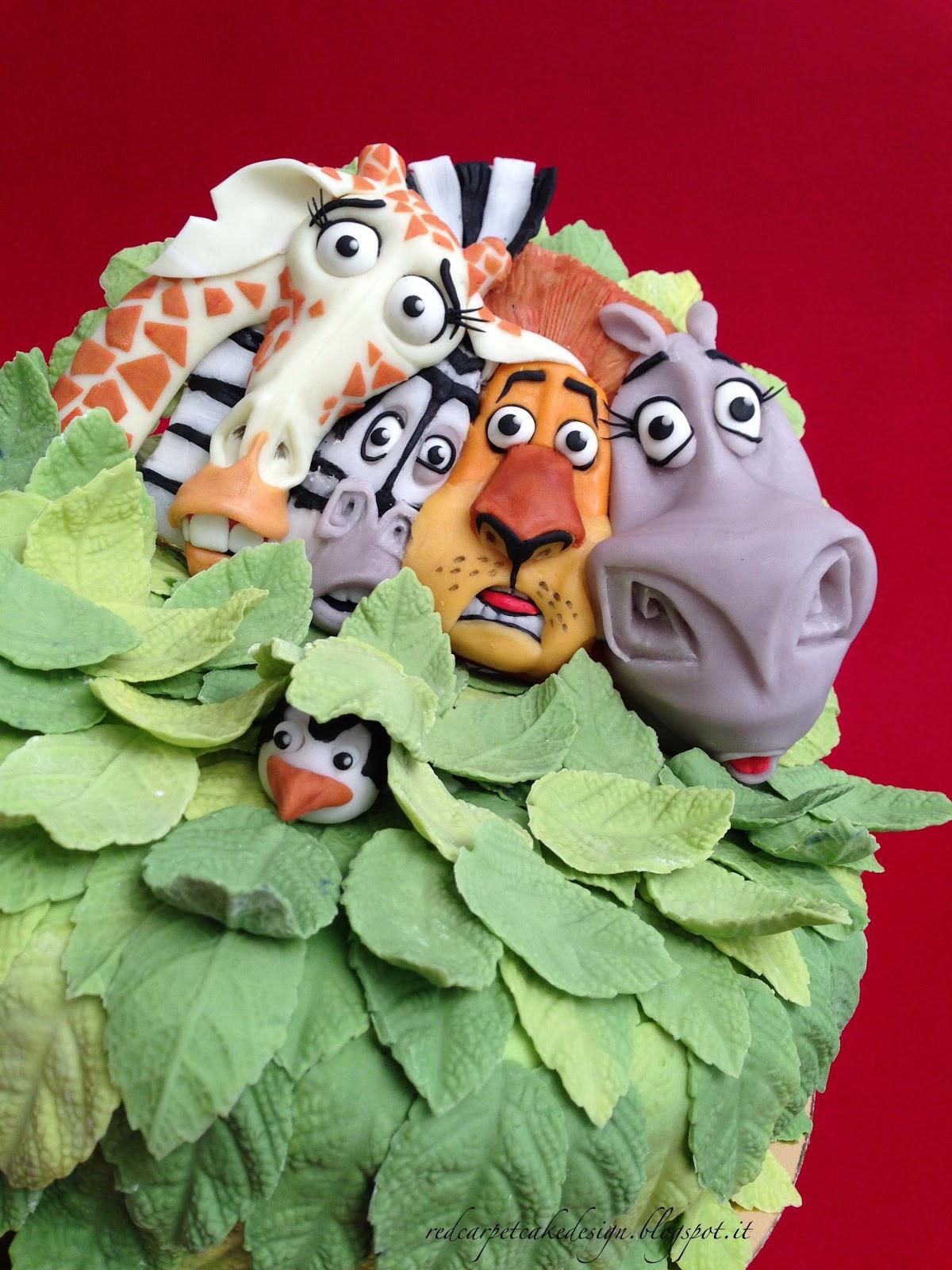 Torta madagascar cake ideas and designs for Decorazioni torte ninjago