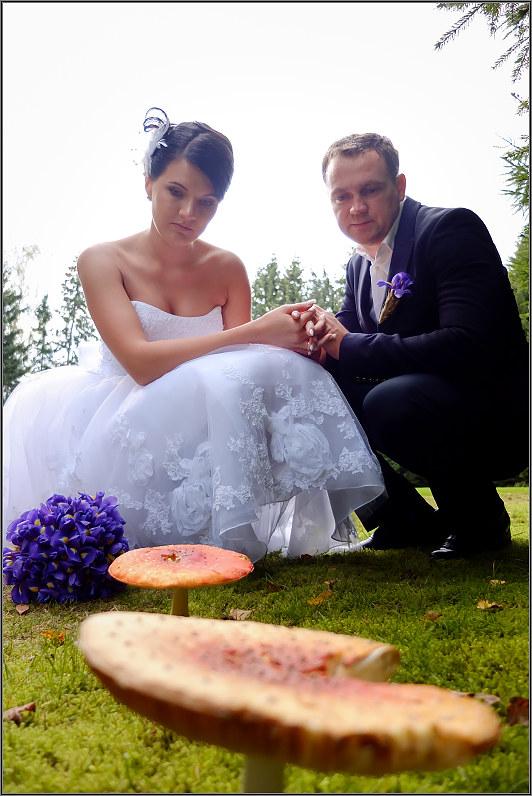 rudeninė vestuvinė nuotrauka