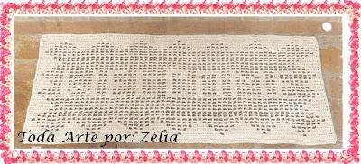 Tapete de Crochê personalisado com gráfico