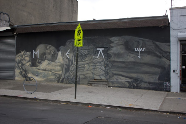 Street Art Collaboration By Axel Void And LNY On The Streets Of New York City, USA. 3