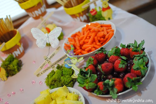 Tea Party Table and Food Display. Disney Winnie the Pooh Birthday Tea Party Decorations and Theme for Toddlers. 2nd Birthday Party Ideas.