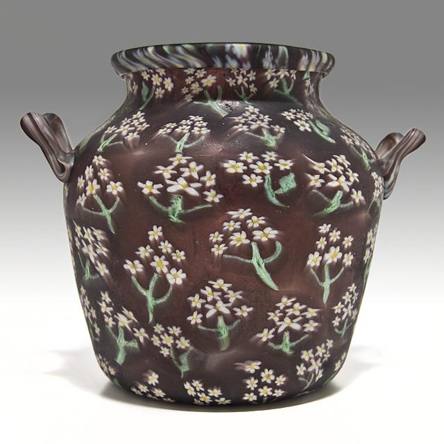 Rare Fratelli Toso Murrine Floreale Vase 1900 Kocoma