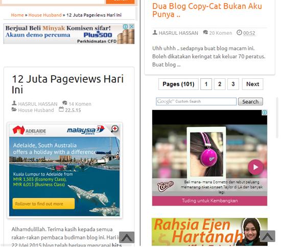Blog mesra mobile dan mesra iklan
