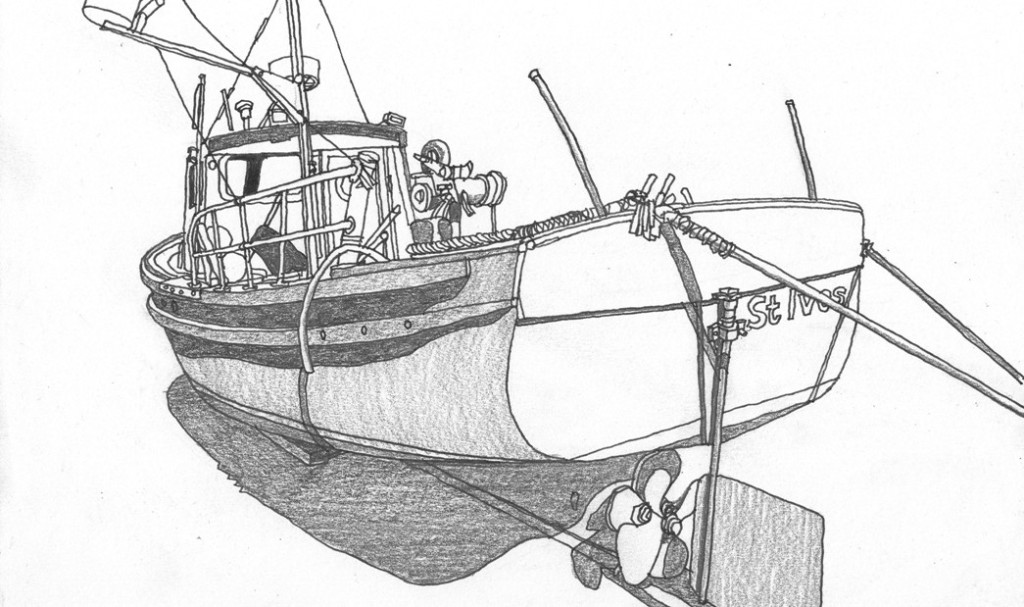 One day like this quick fishing boat drawing st ives for How to draw a fishing boat