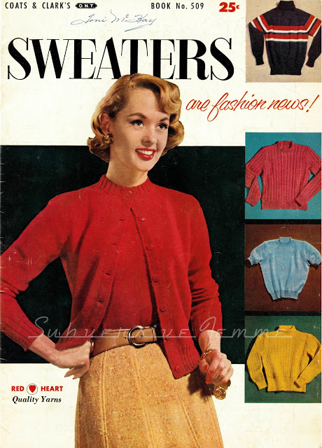 The Vintage Pattern Files 1950s Knitting Classic Sweater Set