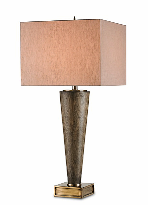 ebony rubbed wood table lamp