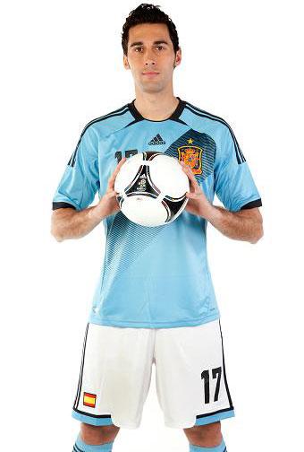 segunda camiseta España Eurocopa 2012 azul celeste
