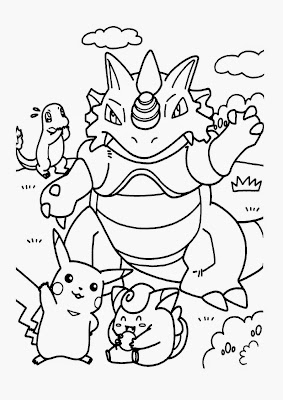 Pokemon Color by Number Coloring Pages
