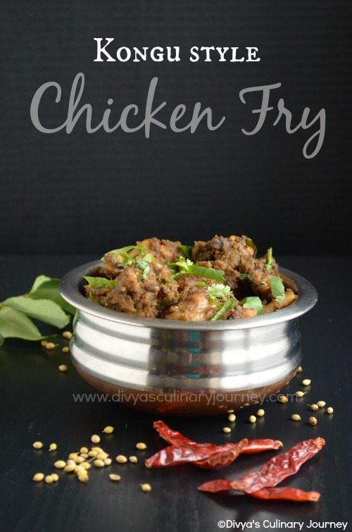 Spicy chicken fry made in Kongu style