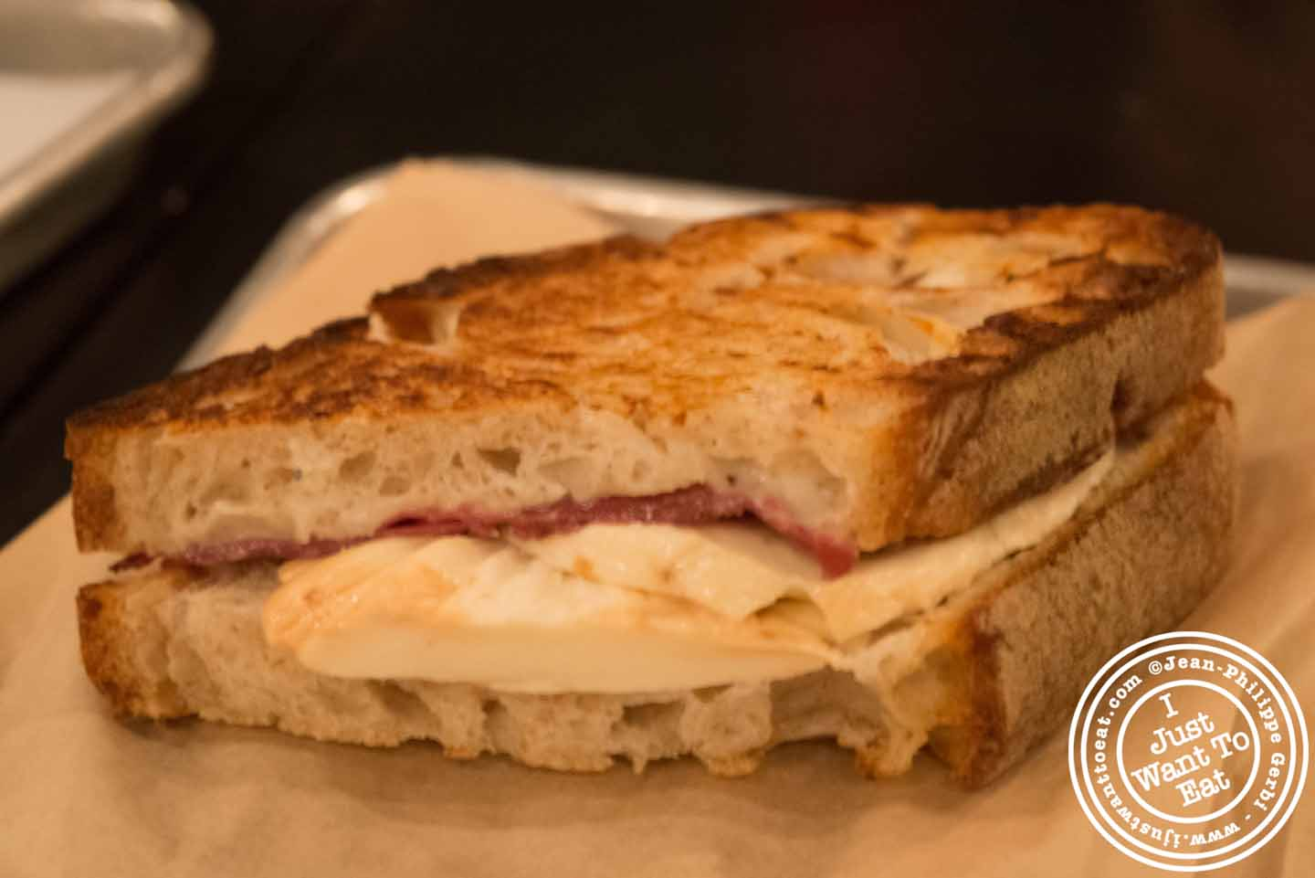 croque monsieur at la maison du croque monsieur in nyc new york i just want to eat food. Black Bedroom Furniture Sets. Home Design Ideas