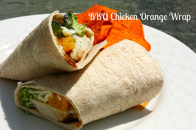 BBQ Chicken Orange Wraps