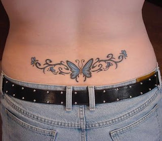 Beautiful Lower back Butterfly Tattoo - Feminine Tattoos