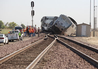 Train accident los angles