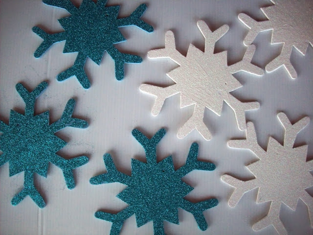 Glitter Snowflakes Glitter Snowflakes and Rudolph Christmas Decorations #glitteratmichaels