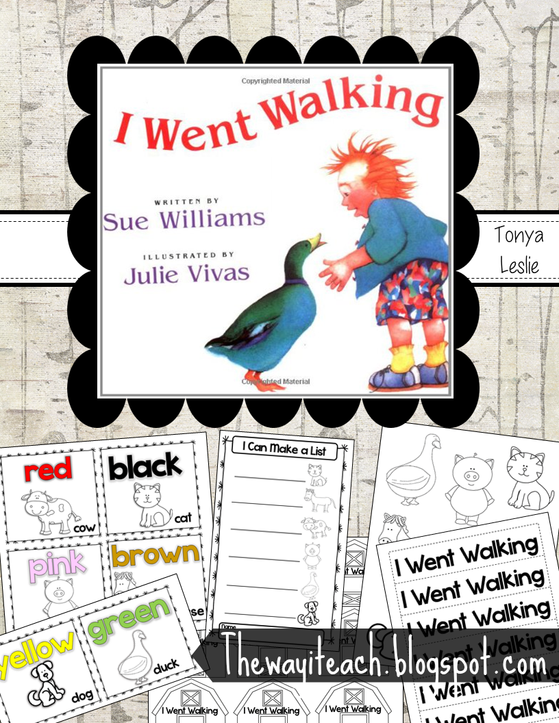 I Went Walking Sequencing and color words