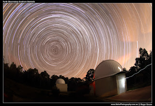 Star Trails over the Perth Observatory