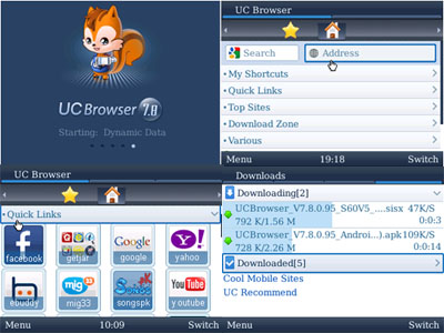 UC Browser 7.8 Versi Blackberry:BlackBerry Aplikasi
