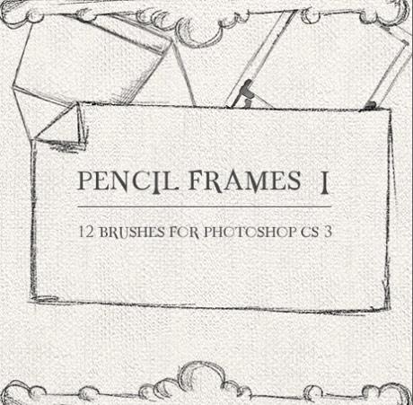 Pinceles de marcos hechos a mano