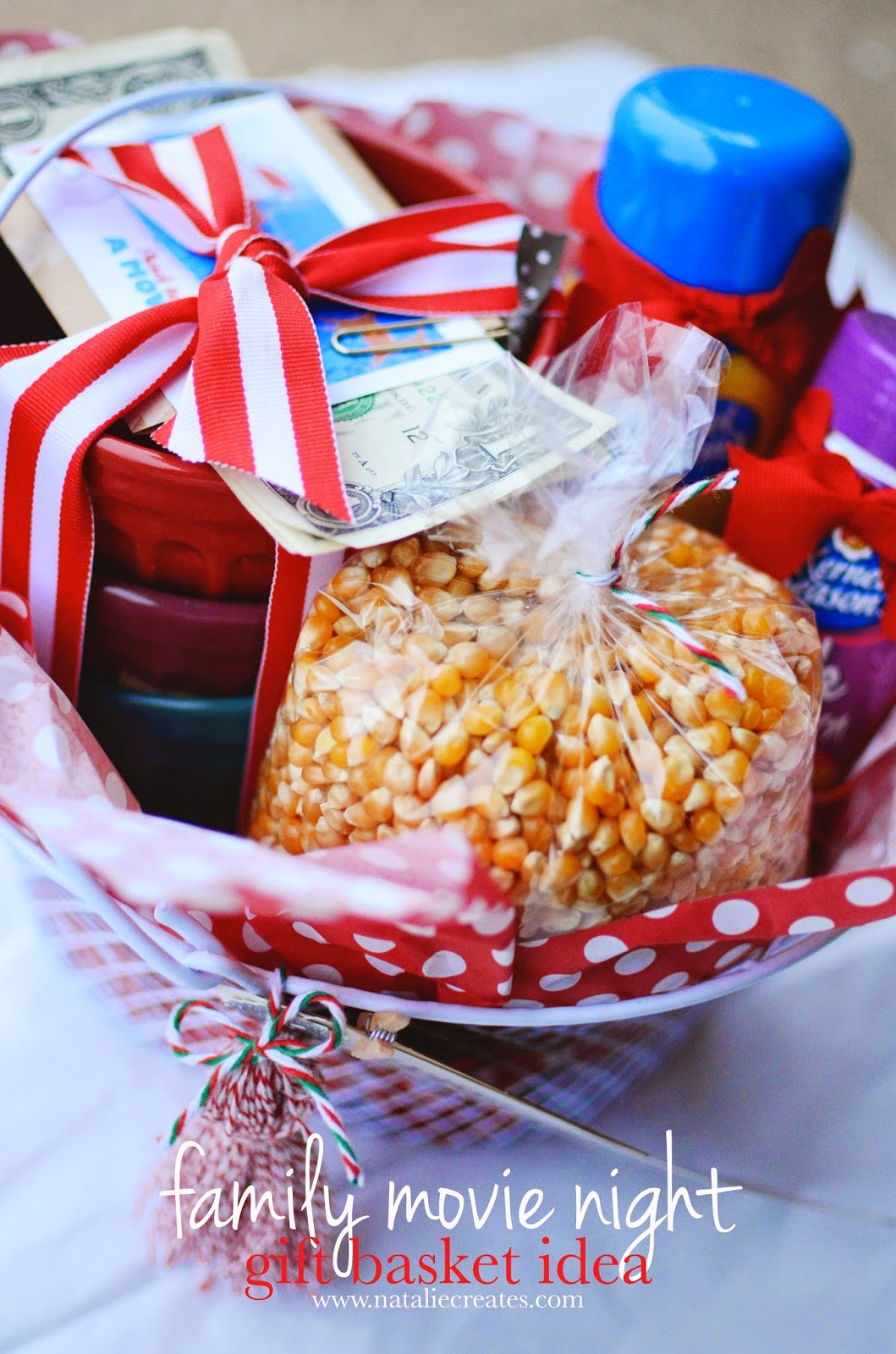 natalie creates: family movie night gift basket idea