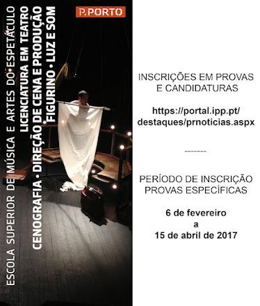 Candidaturas 2017-2018 - Licenciatura em Luz e Som