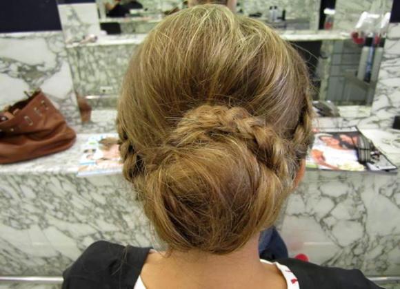 trenzas en peinados simples