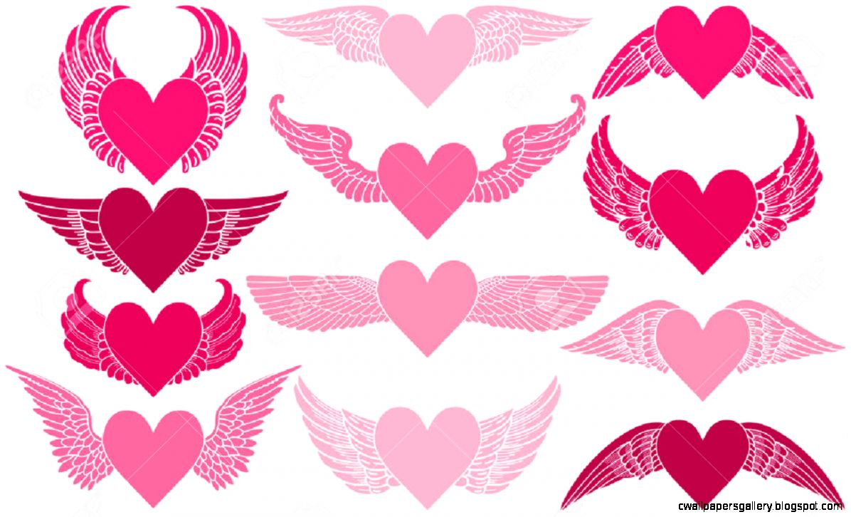 Hearts With Wings Royalty Free Cliparts Vectors And Stock