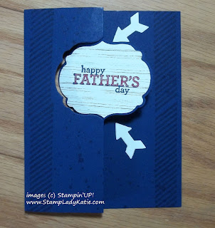 Father's Day card made with Stampin'UP!'s Label Flip Flop Thinlit die and Gorgeous Grunge Stamp Set.