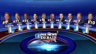Republican Debate Lineup