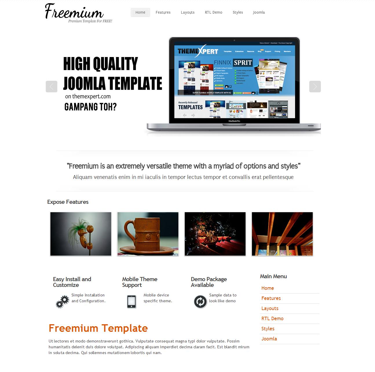 Freemium Free Joomla Template