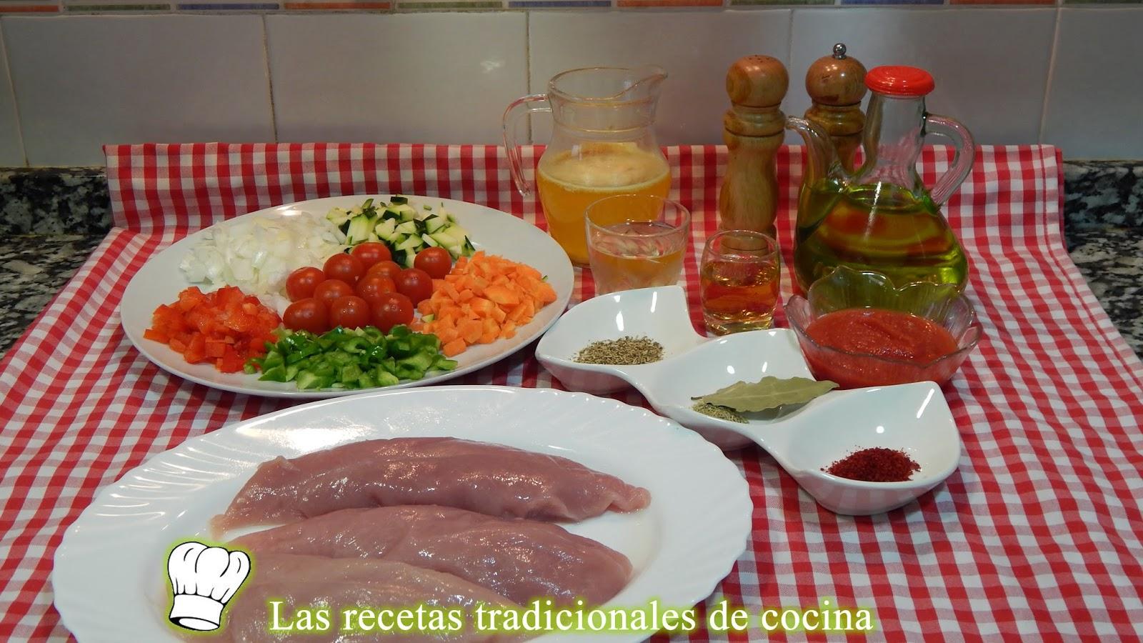 receta de Solomillo de pavo al horno con verduras