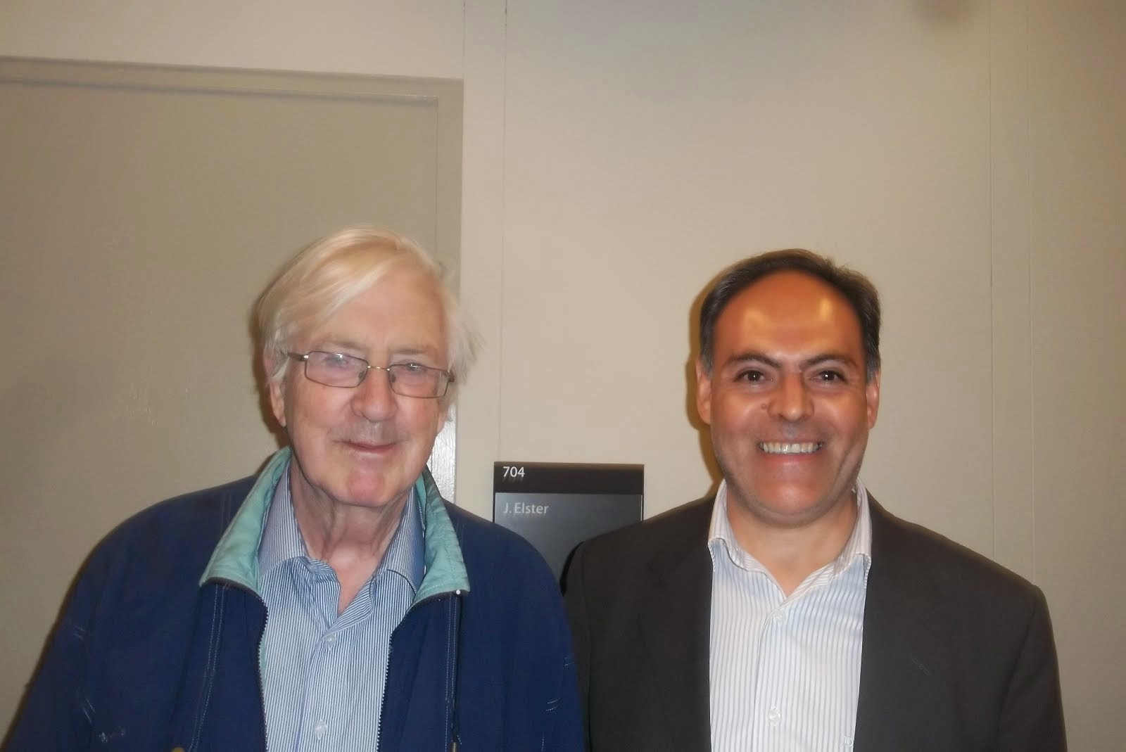 Con el Profesor John Elster