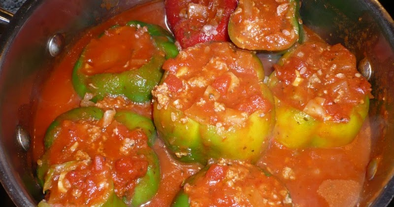 Blaze of Bright Blue: Mom's Stuffed Green Peppers