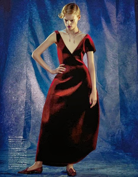 Emporio Armani AW 2013 Burgundy Wine Velvet Dress