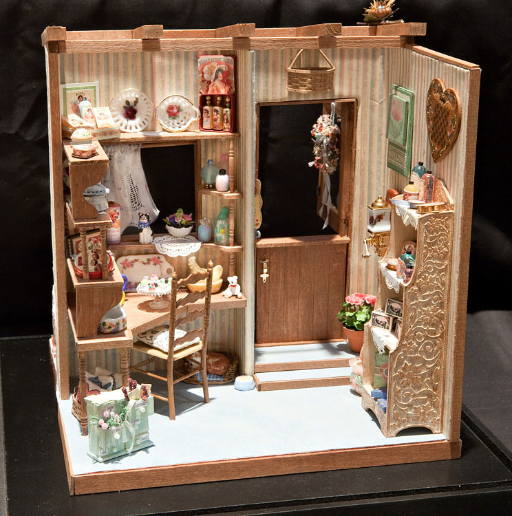 Good sam showcase of miniatures at the show exhibits Miniature room boxes interior design