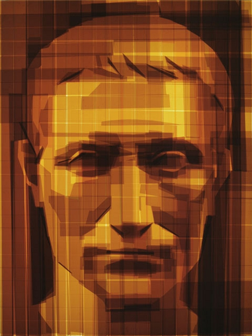 05-Julius-Caesar-Mark-Khaisman-Drawing-Portraits-with-Packaging-Tape-on-Acrylic-Panel-www-designstack-co