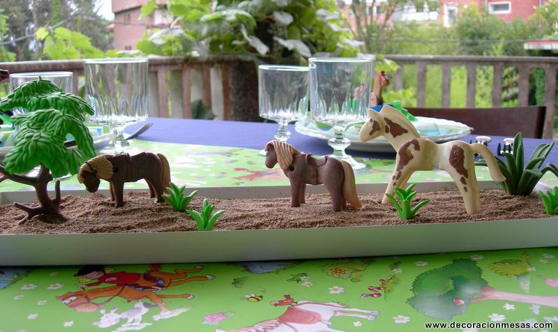 Decoracion de mesas: Mesa cumpleaños de caballos