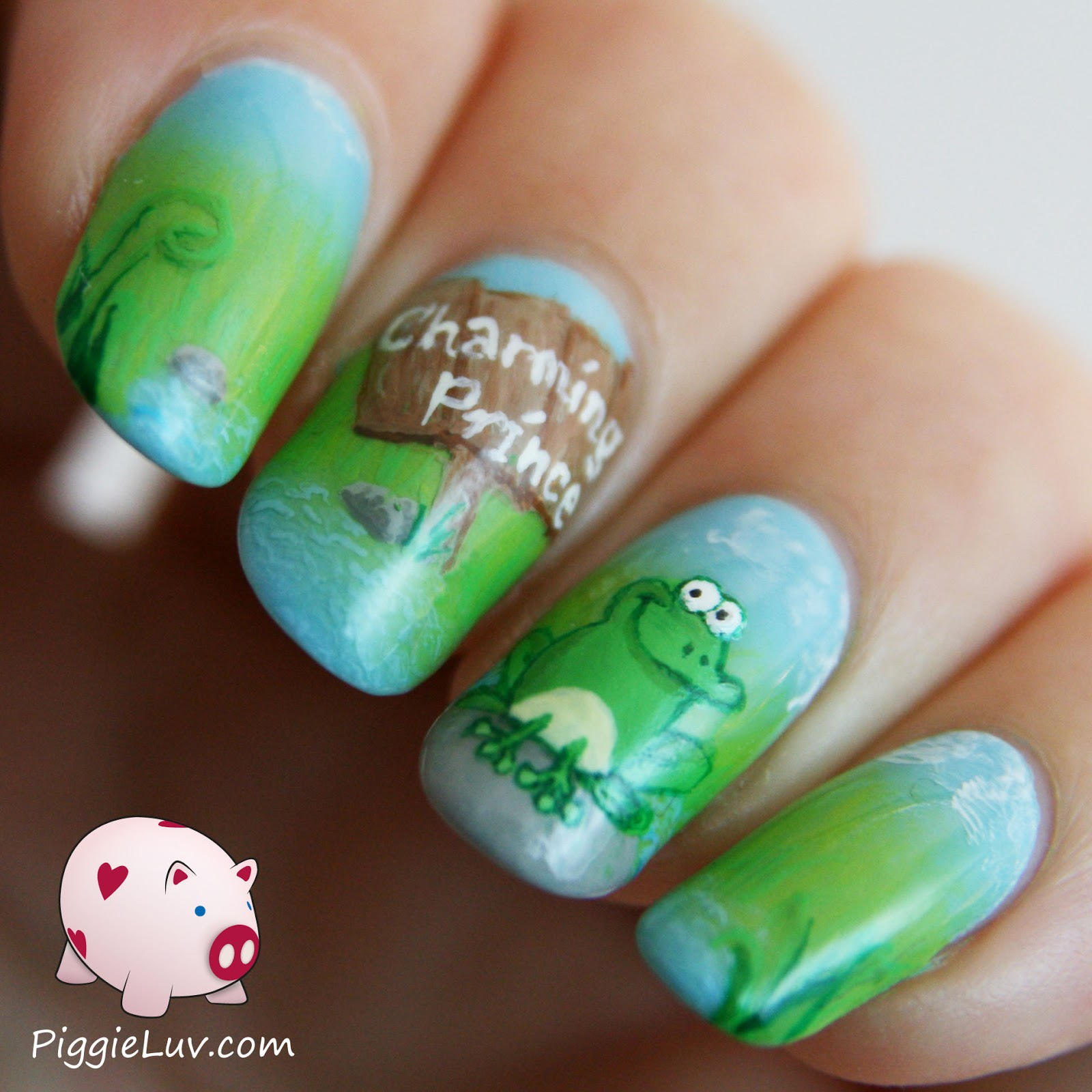 Frog Nail Art: PiggieLuv: Kiss The Frog