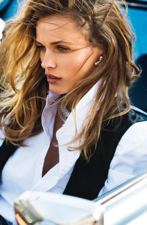 Edita Vilkeviciute in Vogue Paris June-July 2015 (photography: Gilles Bensimon, styling: Geraldine Saglio) / white shirt in fashion editorials / short history of white shirt / wardrobe essentials / via fashioned by love british fashion blog