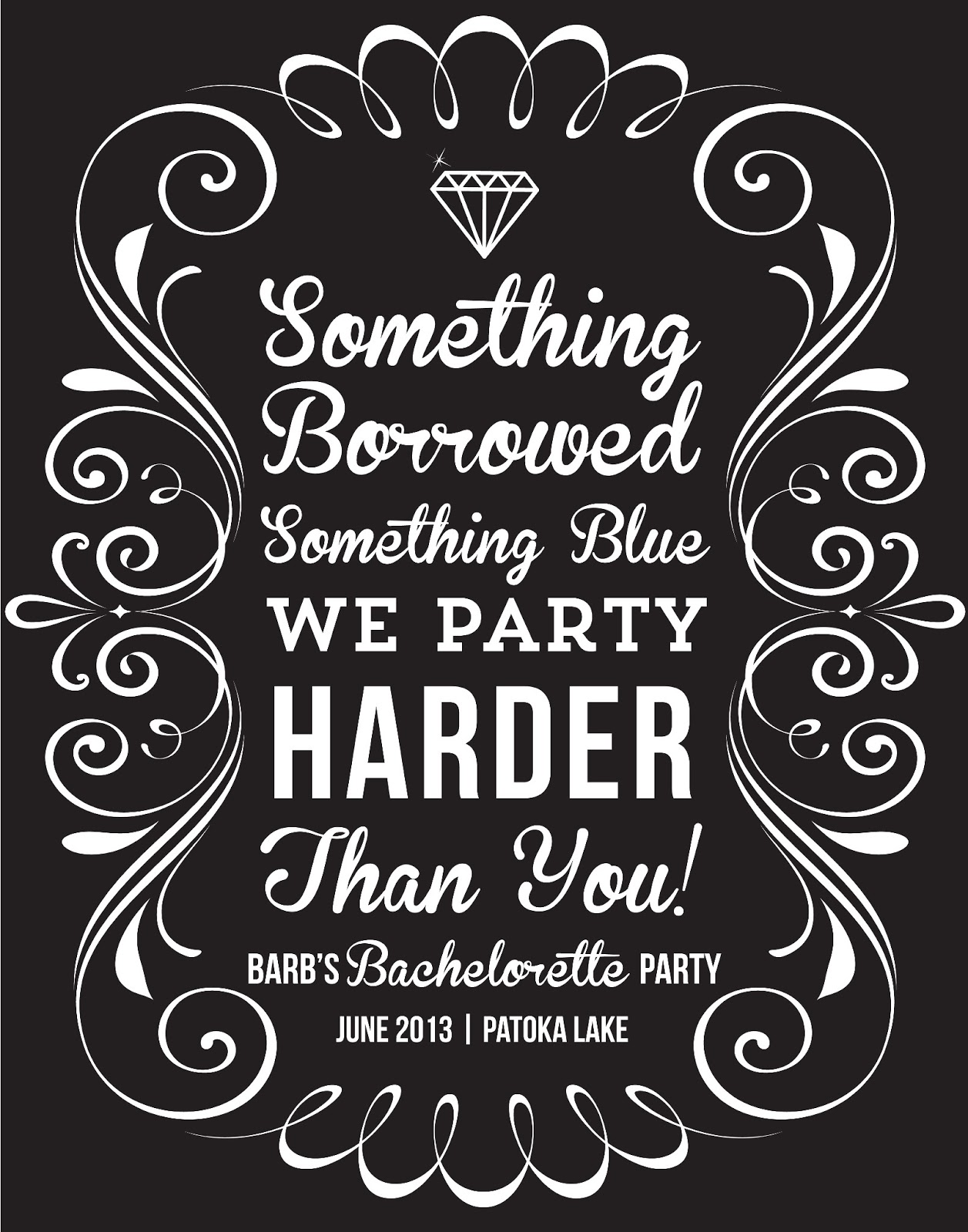 Bachelor Party Invitation Quotes with adorable invitation layout