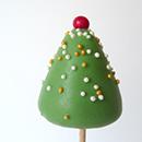 Cake pops Sapins de Noël