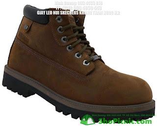 Giày Lính Skechers Workboot Brown Beeswax Chống Nước
