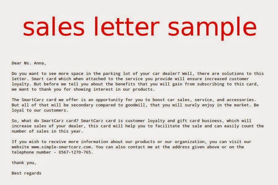Sale Letter Format Image Collections  Letter Format Example