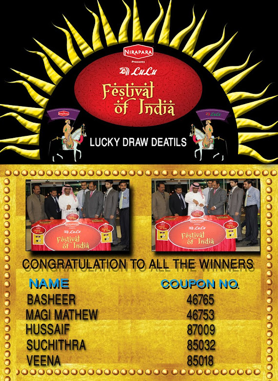 FESTIVAL OF INDIA WINNERS