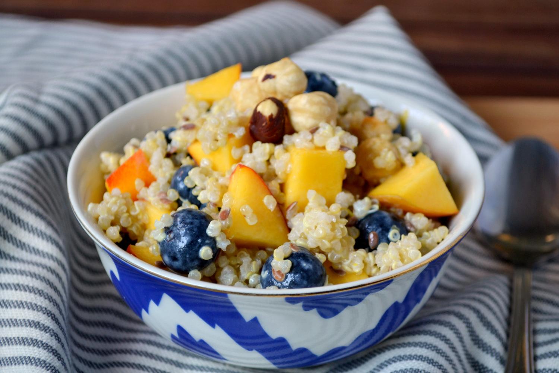 Test Kitchen: Blueberry Quinoa Breakfast Salad