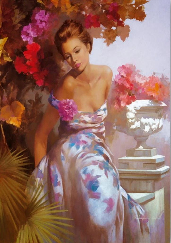 cuadros-de-flores-y-mujeres-pintados-al-oleo