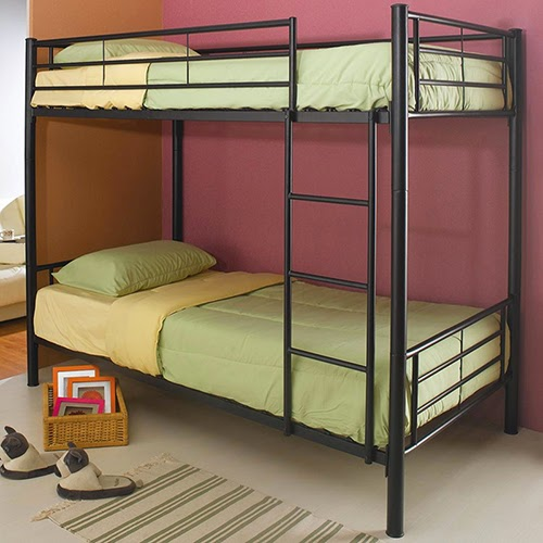 The Most Of Your Space With This Lovely Metal Twin Over Twin Bunk Bed