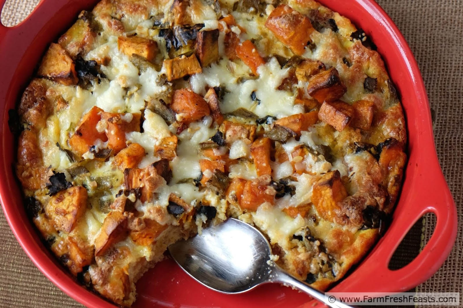 Chile, Cornbread, and Sweet Potato Breakfast Casserole http://www ...